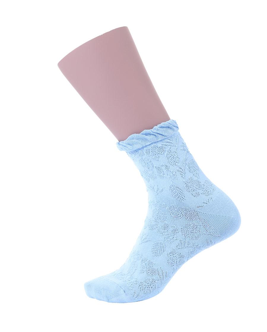 JOURVA袜子|足哇浪漫女士提花短筒袜JV1110381