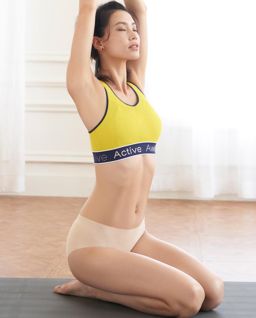 Aimer Sports内裤|巴黎夫人运动暖动中腰平角内裤AS123J31