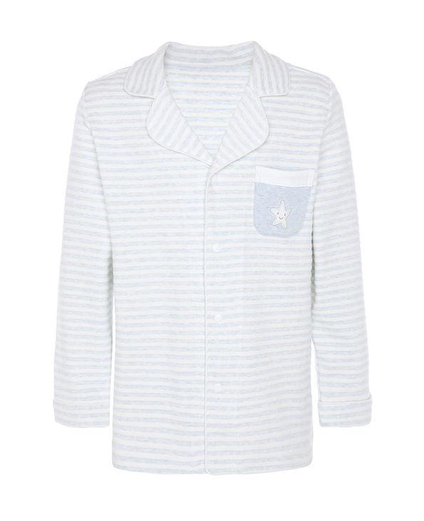 Aimer Kids睡衣|爱慕儿童植物条纹男童长袖家居开衫AK2411781