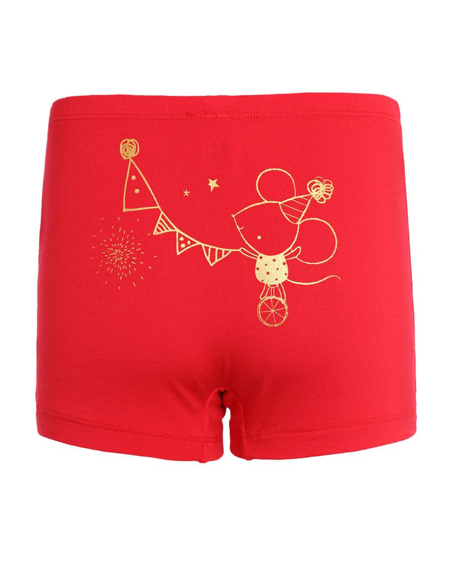 Aimer Kids内裤|爱慕儿童天使小裤MODAL印花欢乐鼠男童中腰平角内裤AK2231904