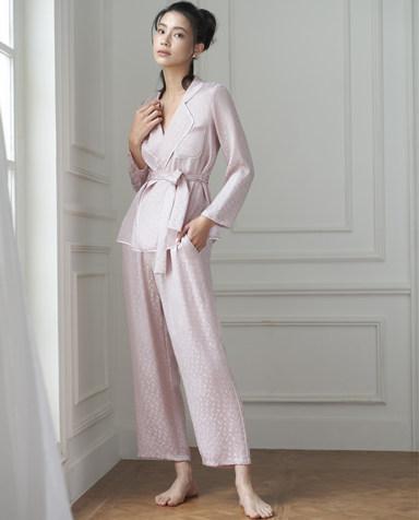Aimer睡衣 爱慕纵享丝滑长袖分身家居套装AM463261