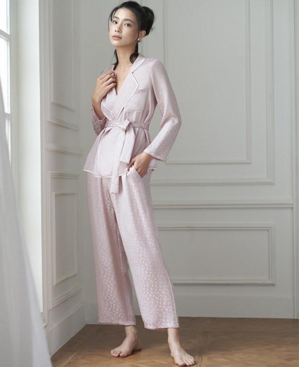 Aimer睡衣|爱慕纵享丝滑长袖分身家居套装AM463261