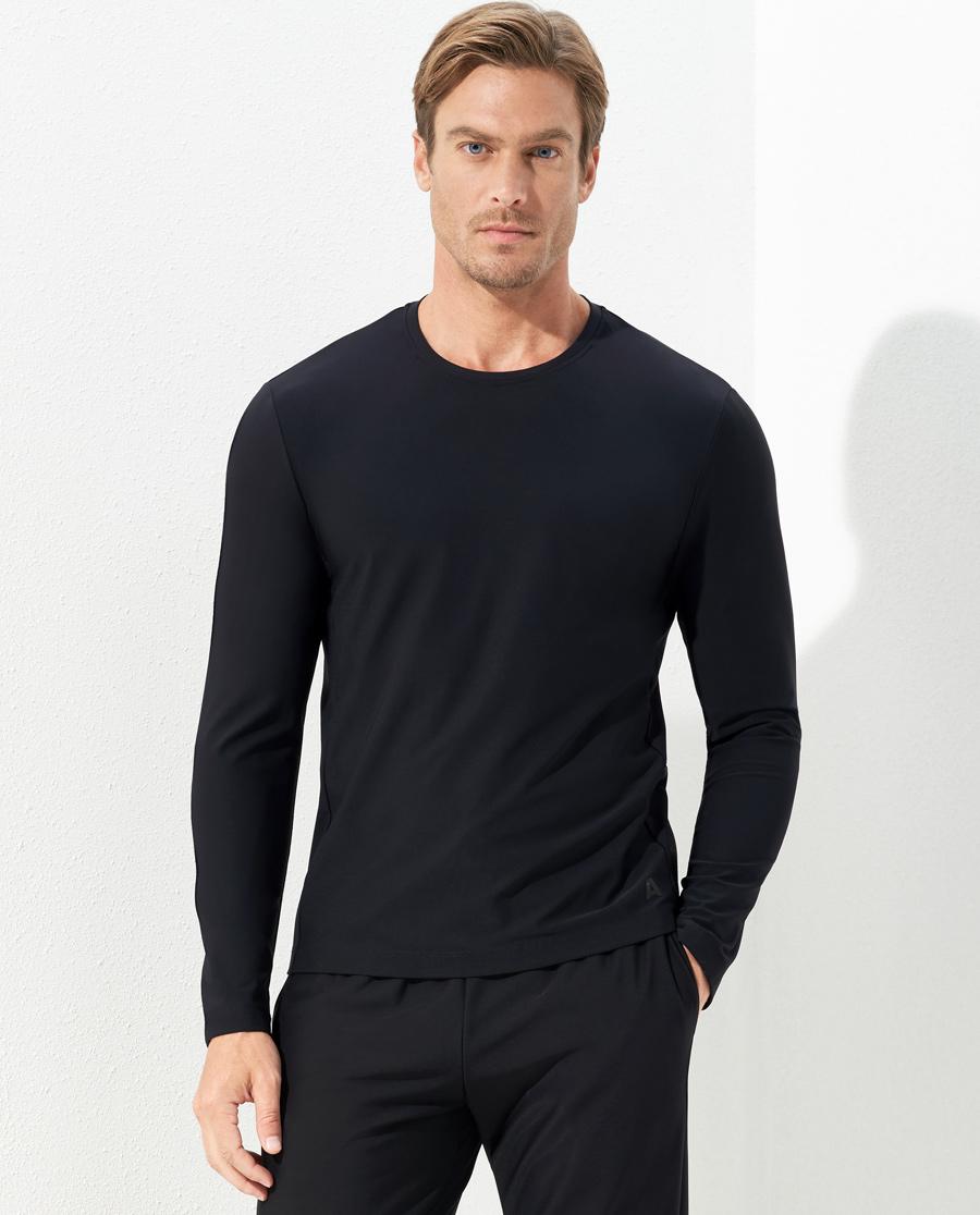 Aimer Men运动装|爱慕先生酷感运动圆领薄绒套头长袖NS62