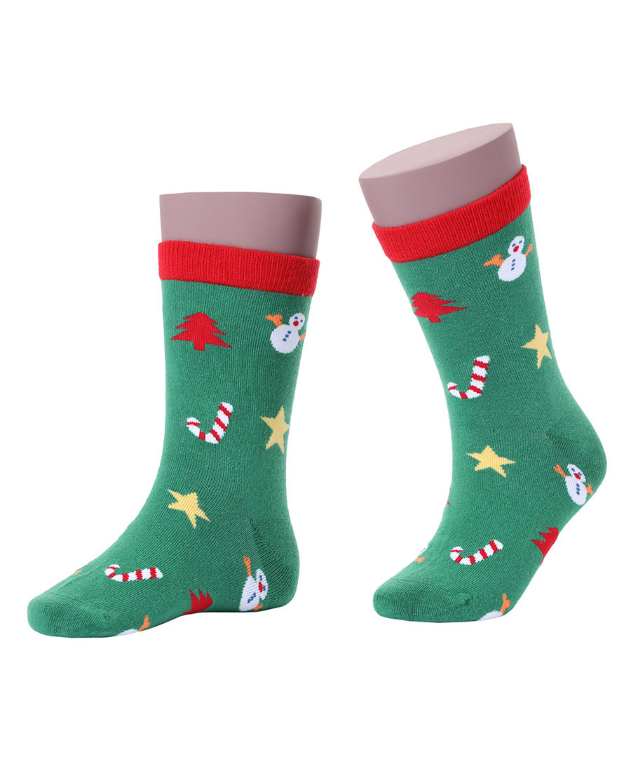 JOURVA袜子|足哇快乐圣诞提花圣诞短袜JV511039