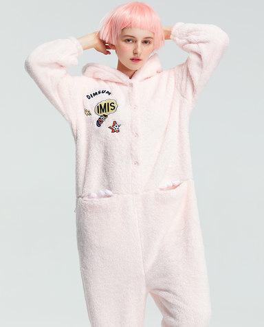 IMIS睡衣|爱美丽家居小恐龙带帽长袖连体衣IM45AUB1