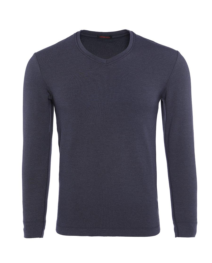 Aimer Men保暖|爱慕先生新warm双层长袖上衣NS72C442