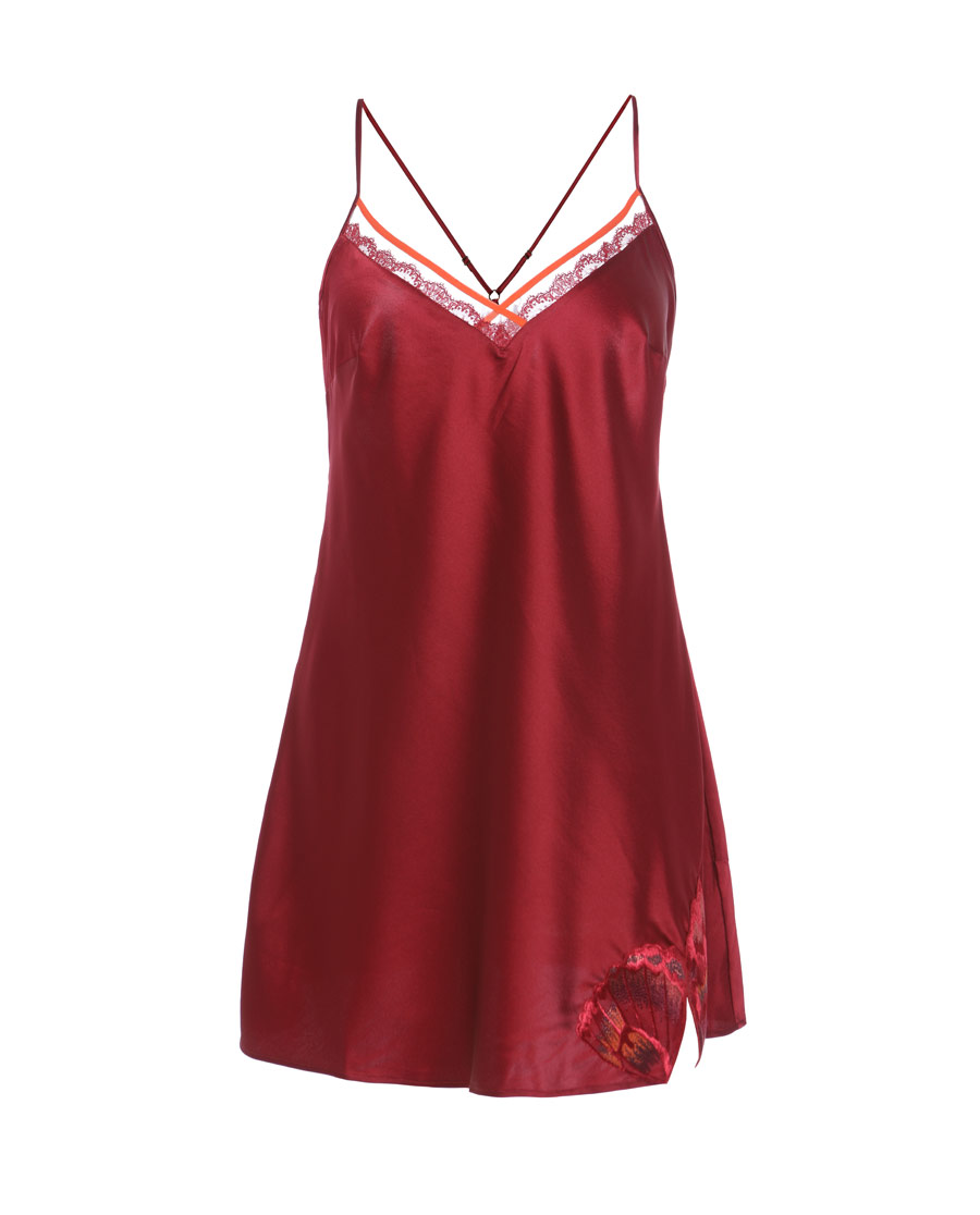 Aimer睡衣|爱慕舞蝶细带睡裙AM443181