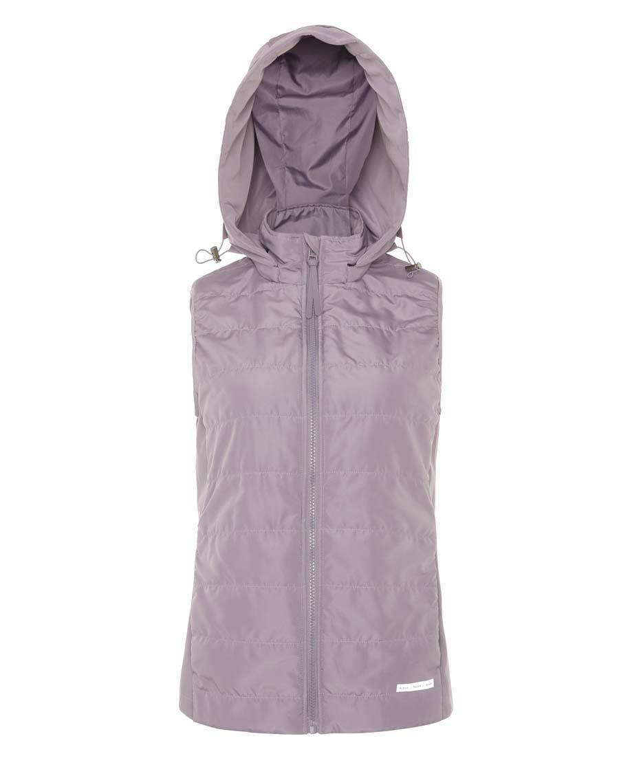 Aimer Sports运动装|巴黎夫人运动任何天气II带帽拉链棉马甲AS1