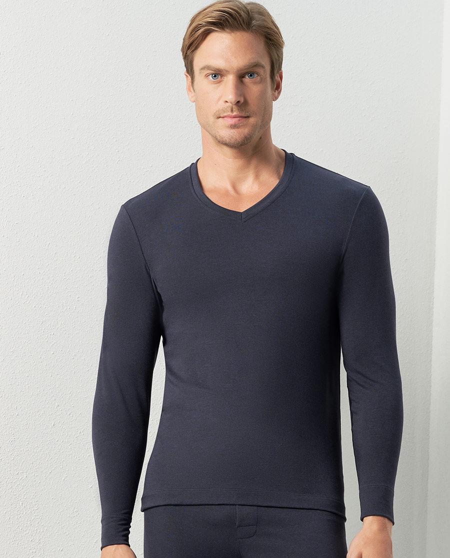 Aimer Men保暖|愛慕先生新warm雙層長袖上衣NS72C