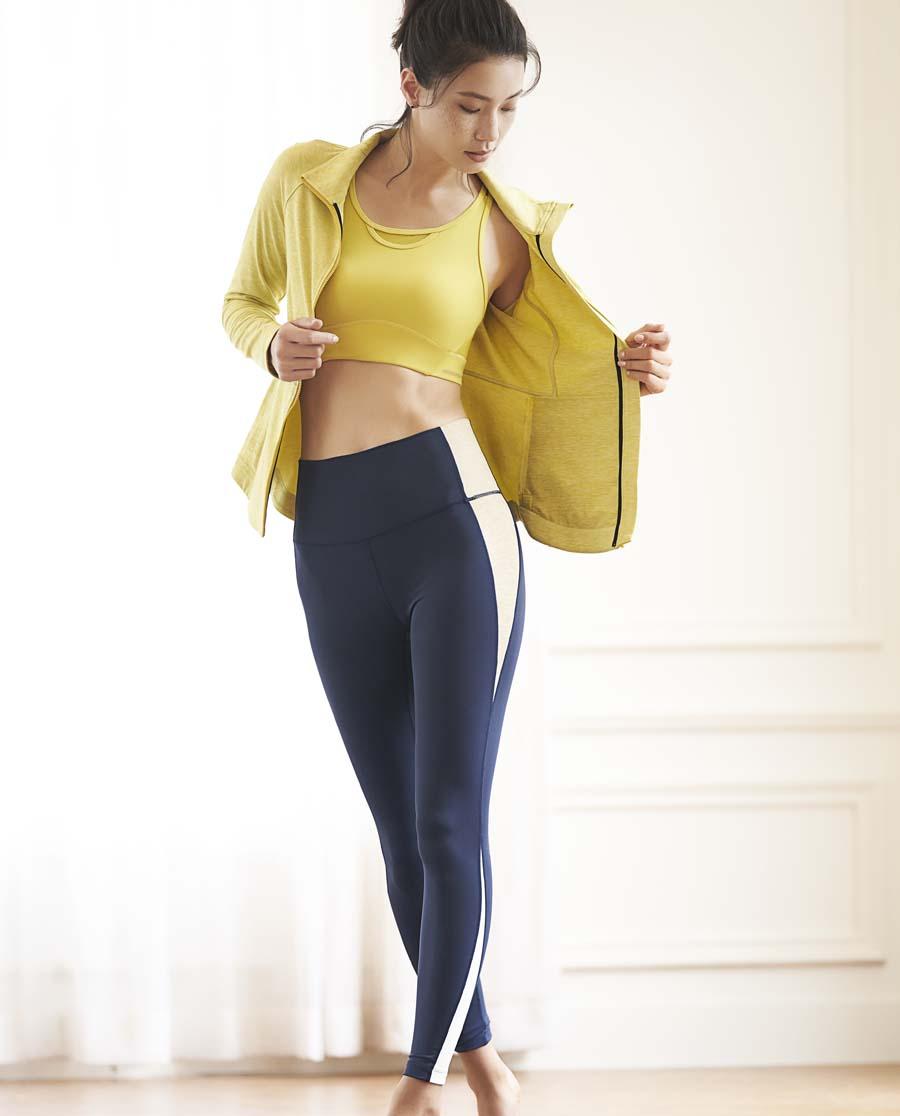 Aimer Sports运动装|爱慕运动瑜伽大师拼色瑜伽长裤AS153H