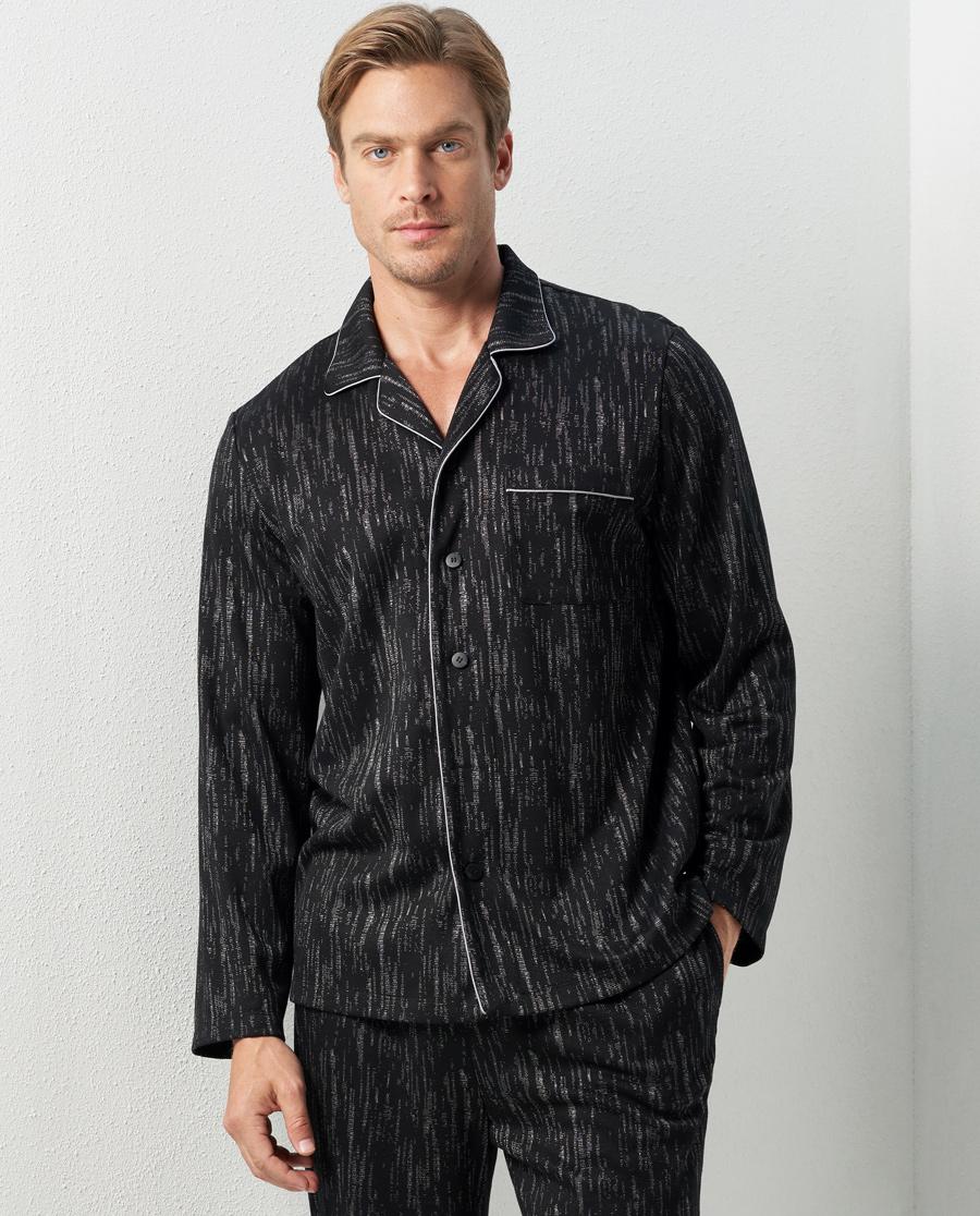 Aimer Men睡衣|愛慕先生巖石系列家居翻領長袖開衫NS41