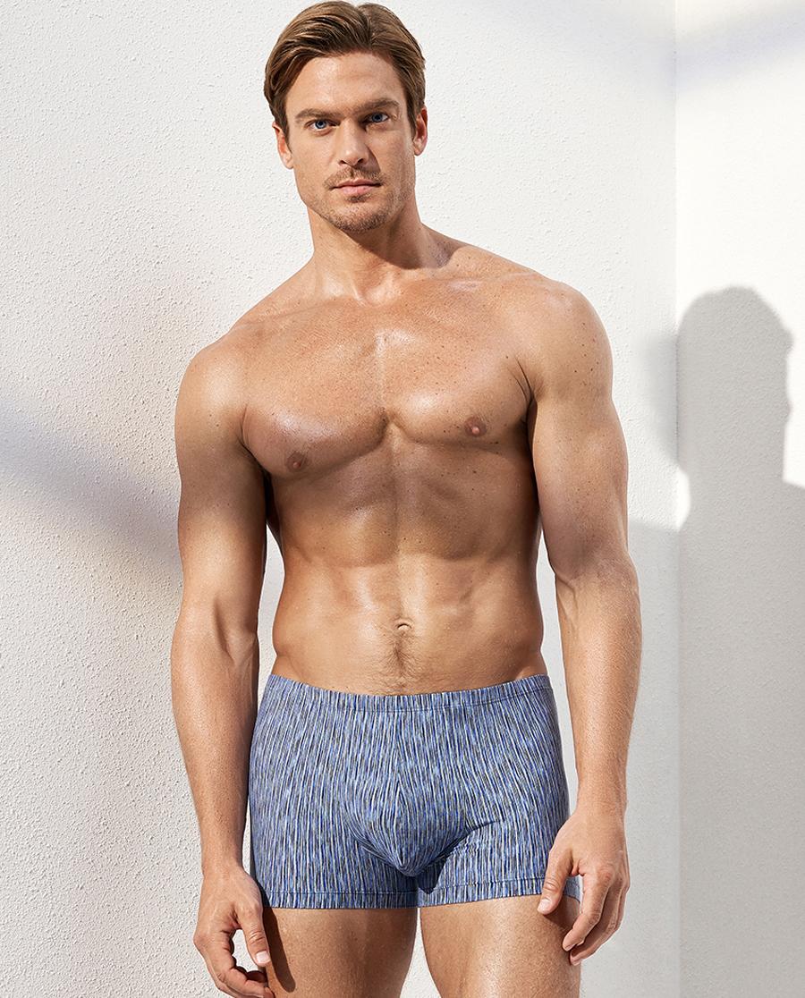 Aimer Men內褲|愛慕先生色織條紋包腰平角褲NS23C33