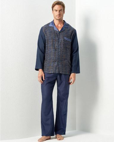 Aimer Men睡衣|爱慕先生真丝拉绒家居长裤NS42C981