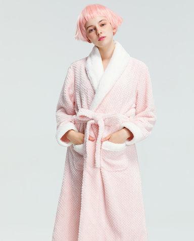IMIS睡衣|爱美丽家居温暖的你翻领长袖睡袍IM48ATZ1