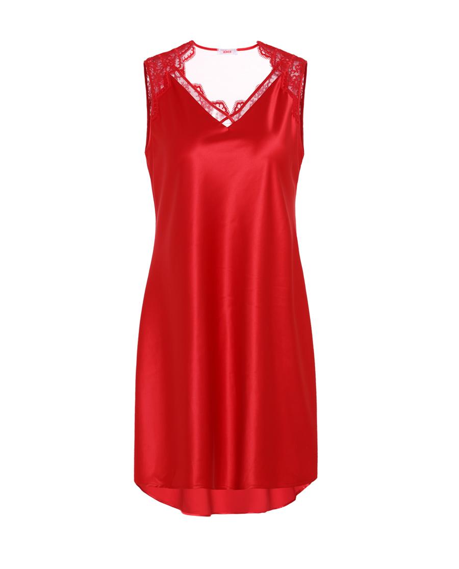 Aimer睡衣|愛慕薔薇羽扇無袖睡裙AM444191