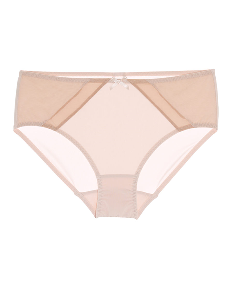 Aimer内裤|巴黎夫人裸色风尚中腰平角裤AM233701