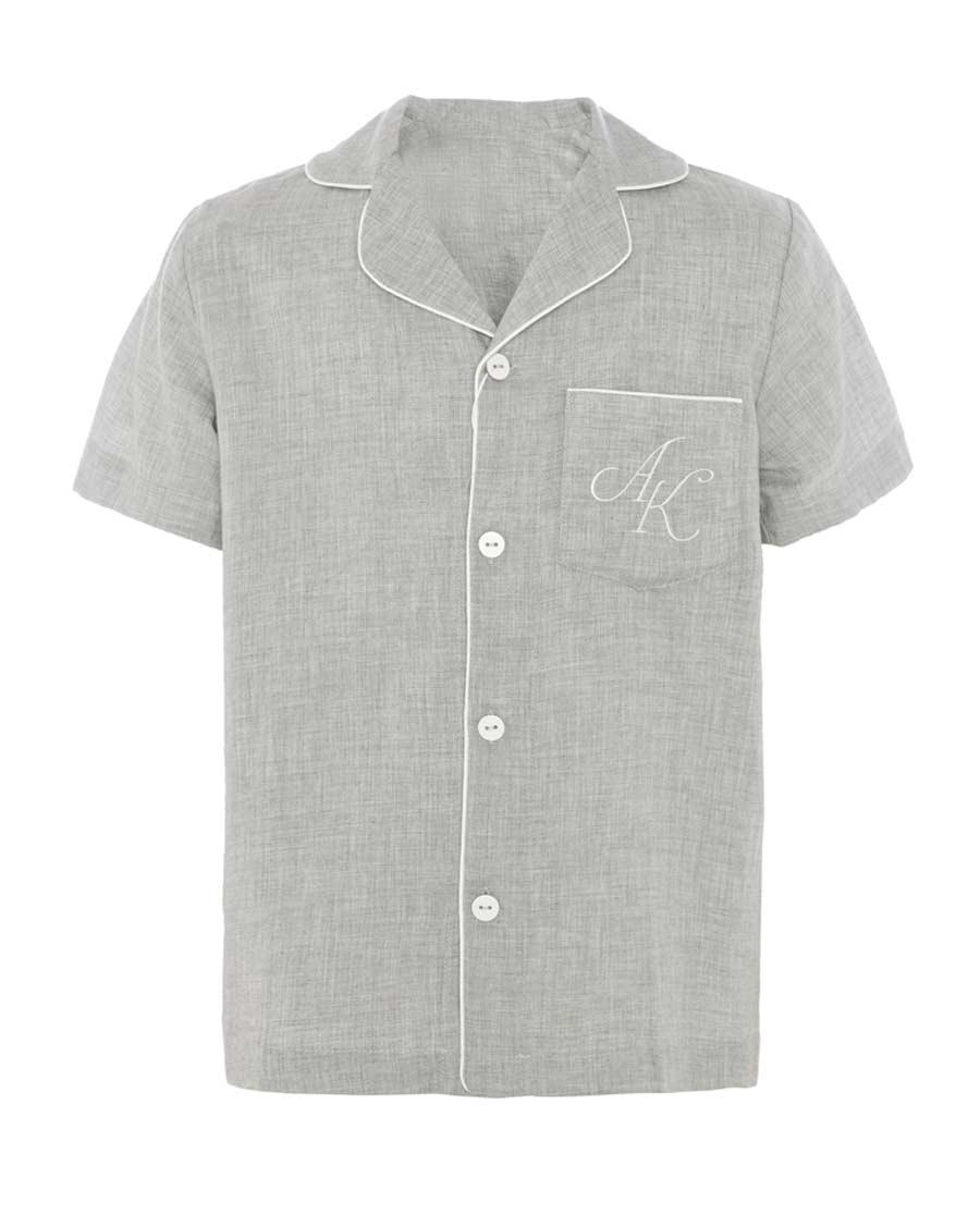 Aimer Kids睡衣|愛慕兒童小禪茶語短袖開衫AK241086