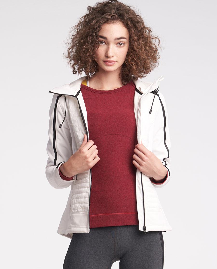 Aimer Sports睡衣|爱慕运动冬日温度带帽拉链外套AS144J