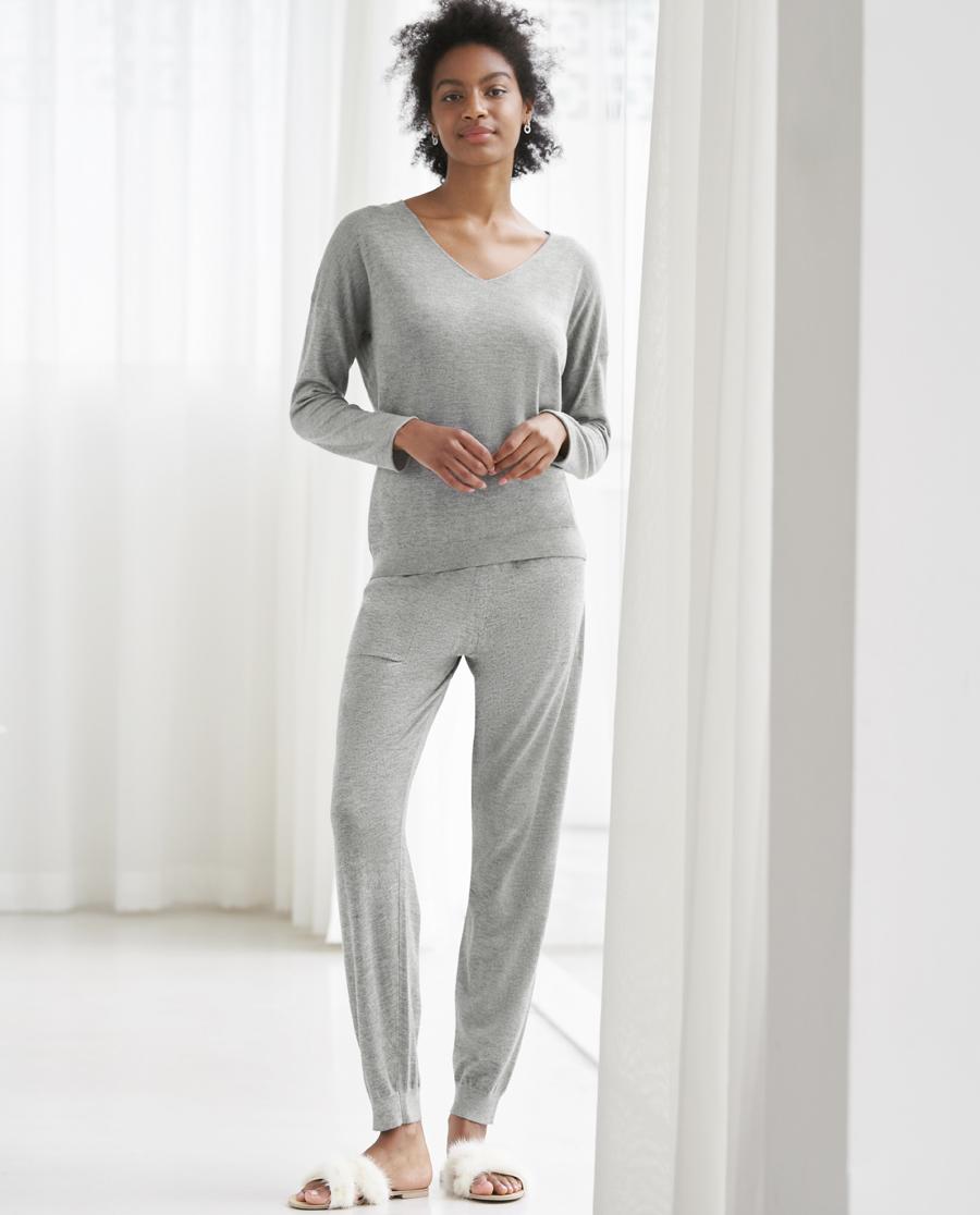 Aimer睡衣|爱慕温暖针织长裤套装AM463571