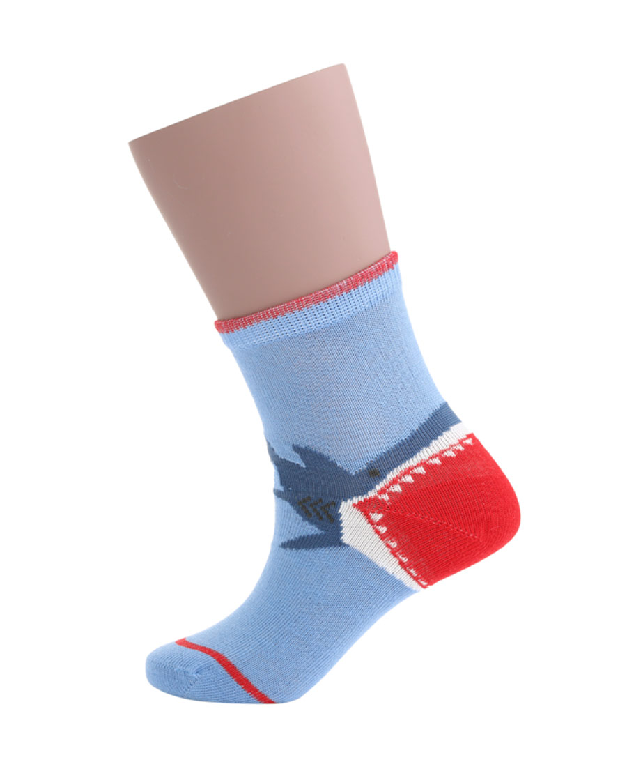 JOURVA袜子|足哇(2件包)鲨鱼宝宝鲨鱼提花棉质短筒袜