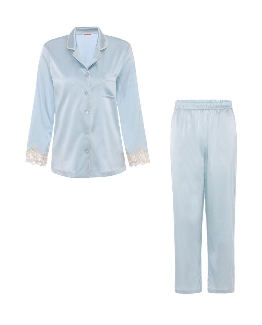 Aimer Home睡衣|爱慕家居浪漫起居长袖长裤分身家居套装AH