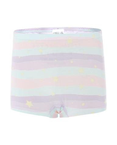 Aimer Kids内裤|爱慕儿童天使小裤MODAL印花女童梦幻星中腰平角裤AK1232812