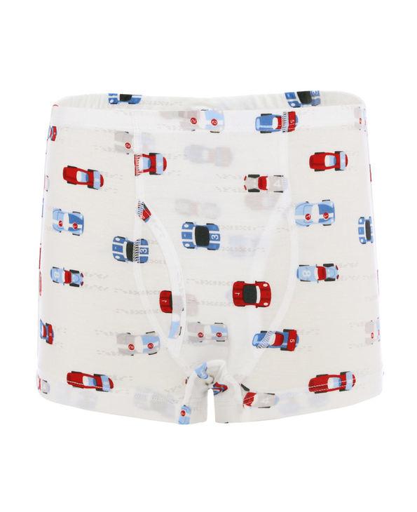 Aimer Kids内裤 爱慕儿童天使小裤MODAL印花男童光速赛车中腰平角裤AK2232812