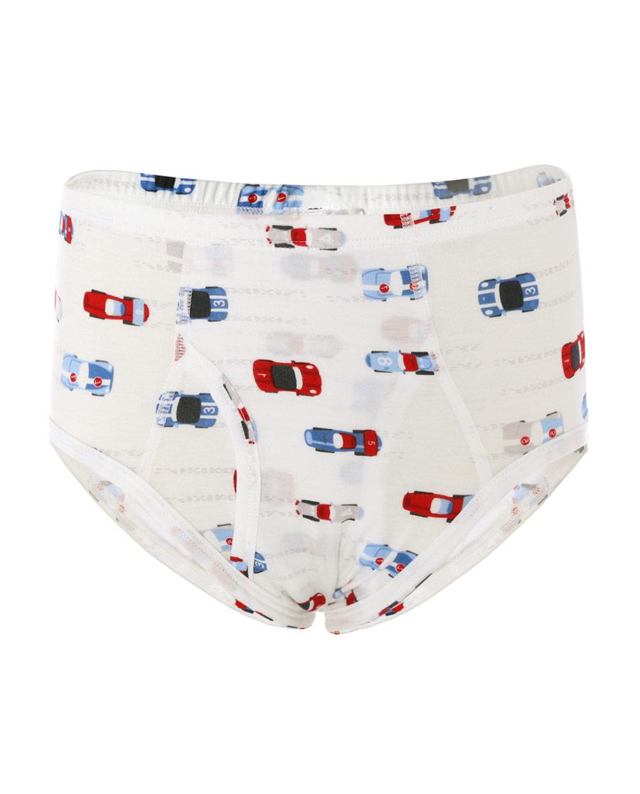 Aimer Kids内裤|爱慕儿童天使小裤MODAL印花男童光速赛车中腰三角裤AK2222812