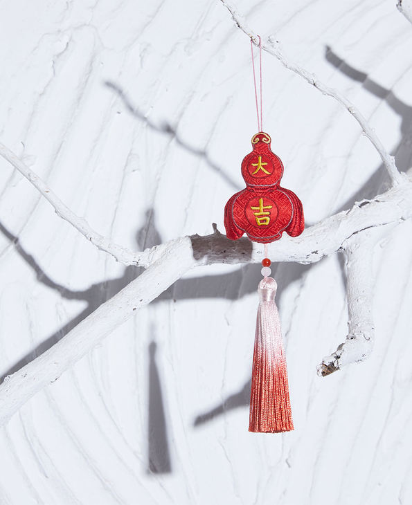 EMPEROR配饰 皇锦印花小方巾-九色鹿礼盒装HJ43292