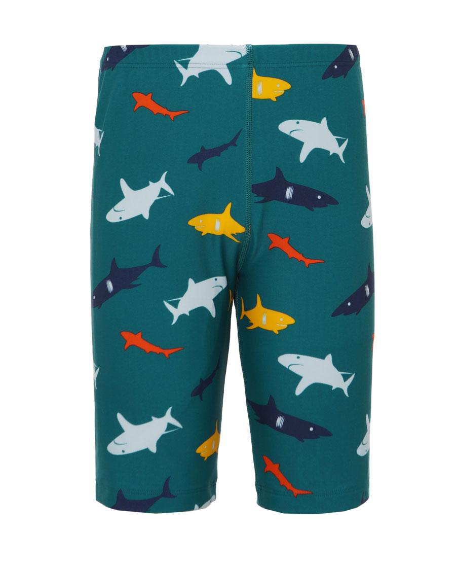 Aimer Kids泳衣|爱慕儿童2件装贪吃鲨鱼系列五分泳裤AK2