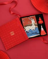 皇锦印花小方巾-九色鹿礼盒装HJ43292