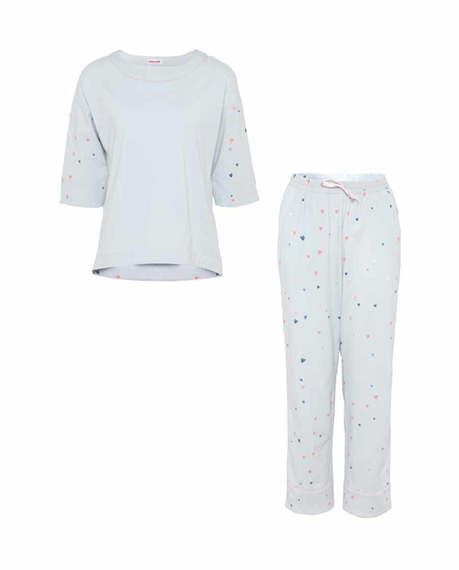 Aimer Home睡衣|爱慕家居心语七分袖长裤分身家居套装AH4