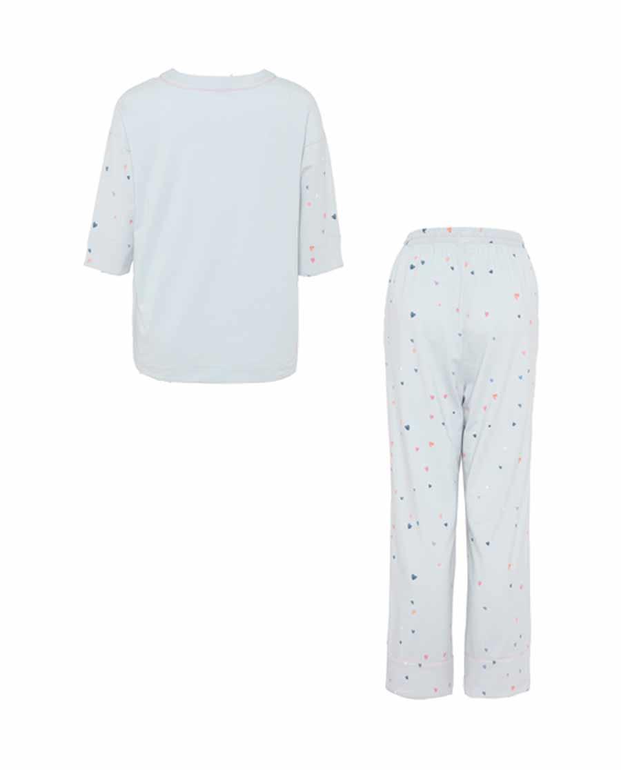 Aimer Home睡衣|爱慕家居心语七分袖长裤分身家居套装AH460831