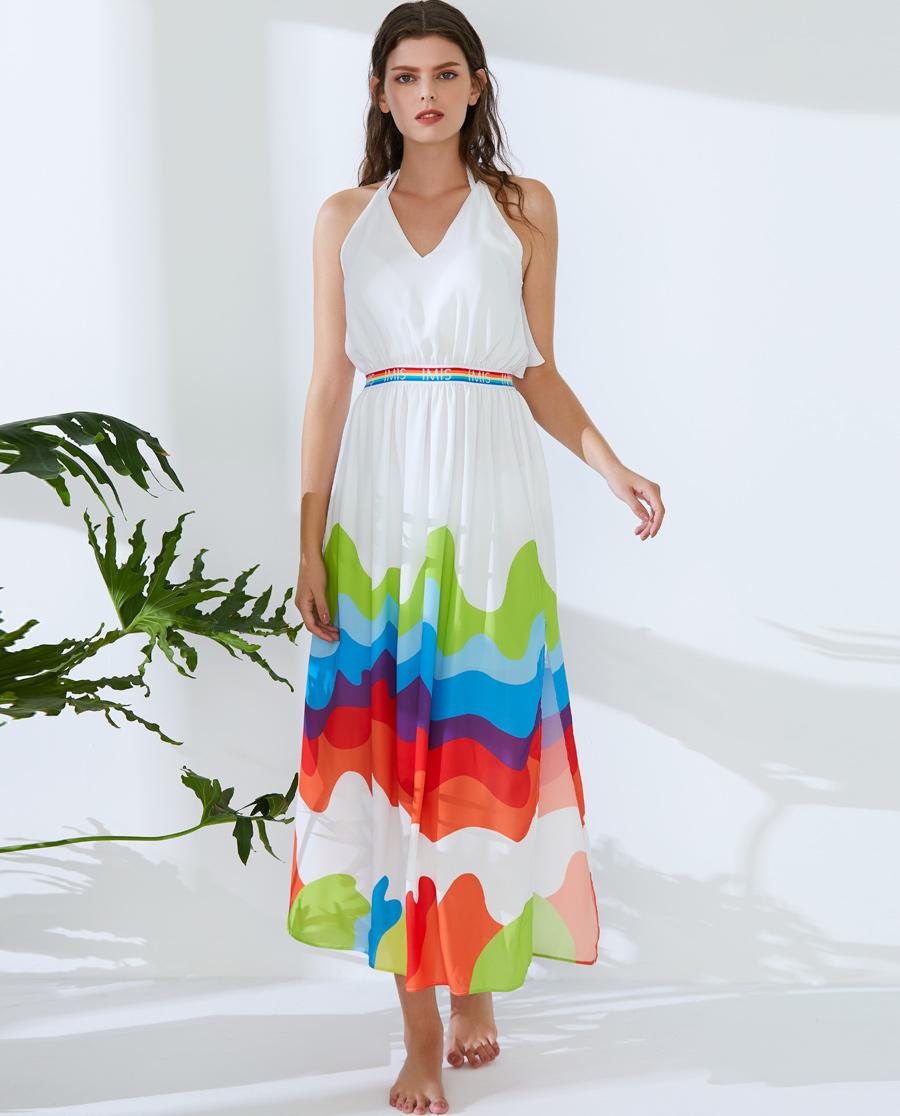 IMIS泳衣|爱美丽泳衣彩虹心情无托比基尼沙滩长裙三件