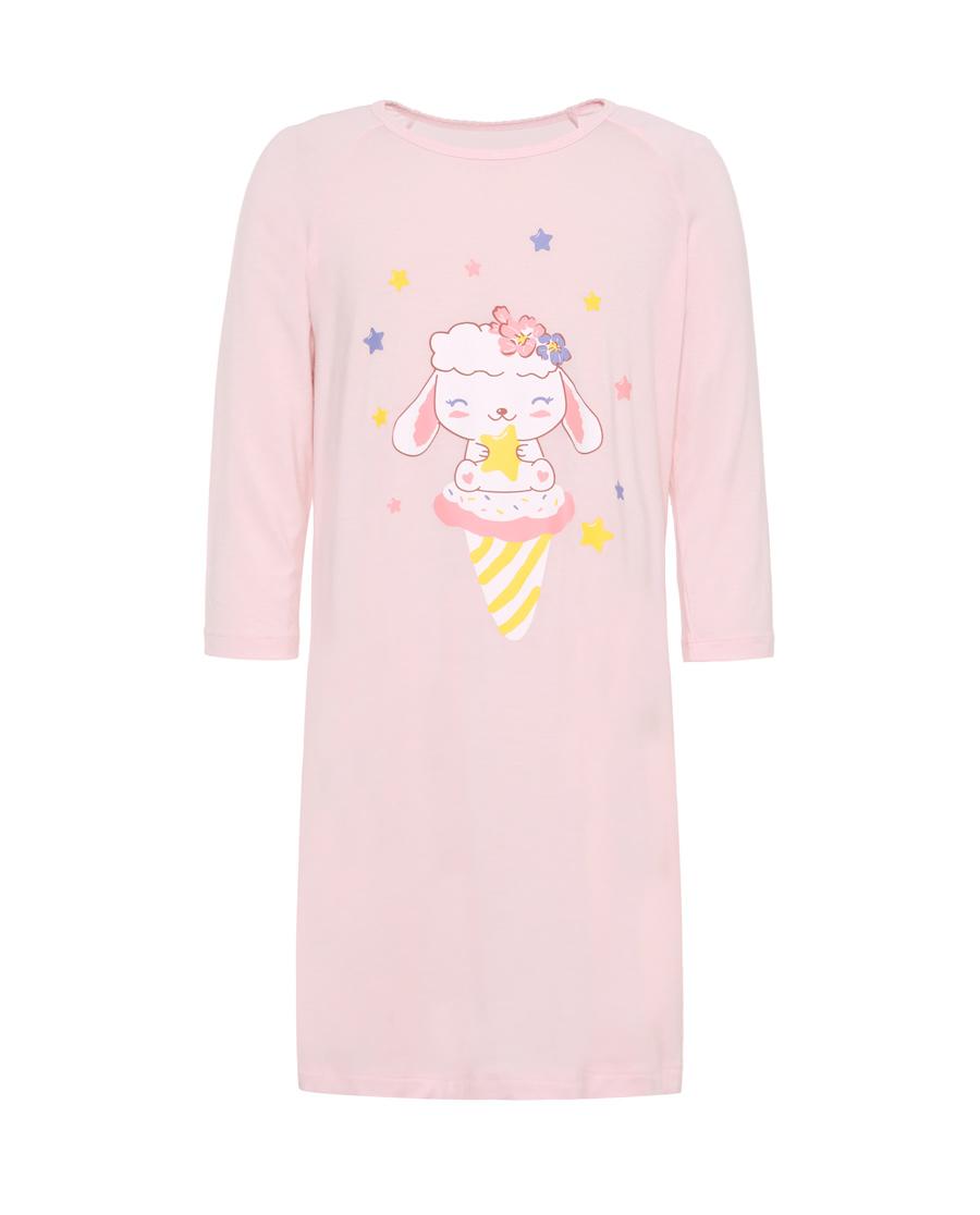 Aimer Kids睡衣|爱慕儿童乖乖羊女童七分袖睡裙AK1442871