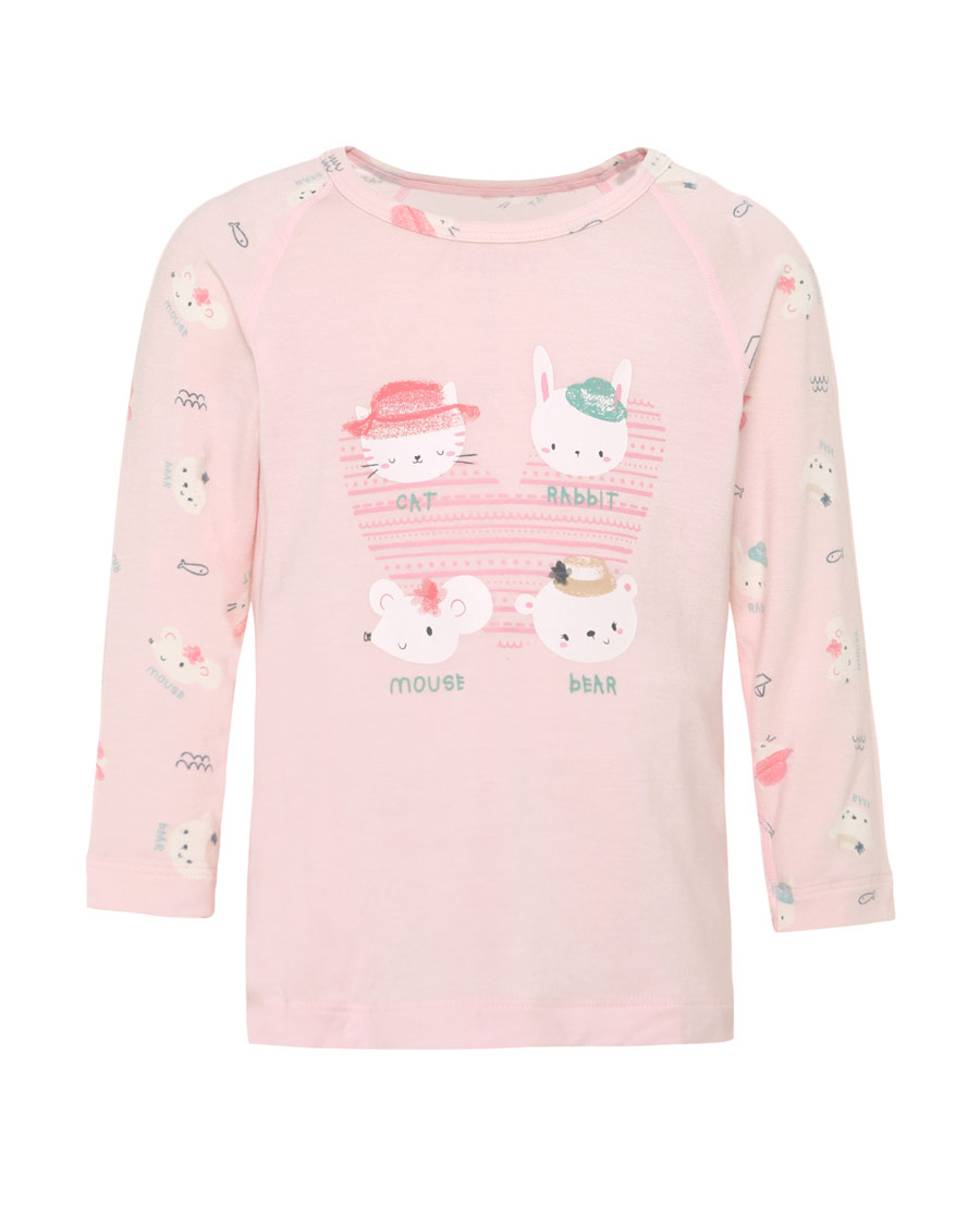 Aimer Baby睡衣 愛慕嬰兒小伙伴女嬰套頭長袖睡衣AB141