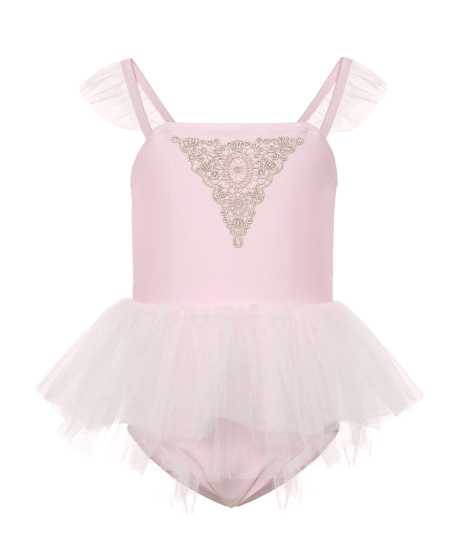 Aimer Kids泳衣|愛慕兒童芭蕾公主女童連體泳衣AK1673
