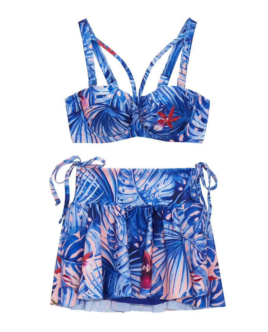 IMIS泳衣|爱美丽泳衣热带风潮钢托比基尼三件套泳衣I