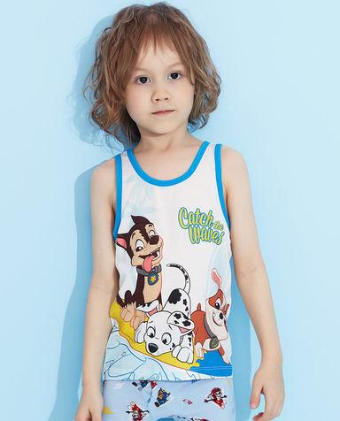 Aimer Kids睡衣|爱慕儿童天使背心modal汪汪队狗狗冲浪跨栏背心AK2113433
