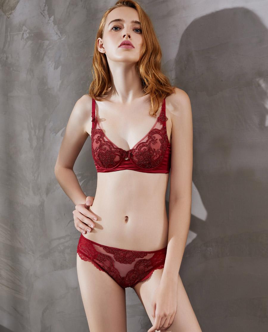 La Clover內褲|LA CLOVER蘭卡文粉紅愛麗系列中腰