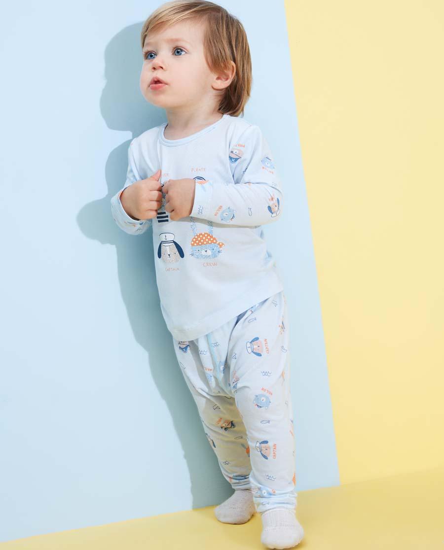 Aimer Baby睡衣 愛慕嬰幼小海盜男嬰大屁屁睡褲AB2422