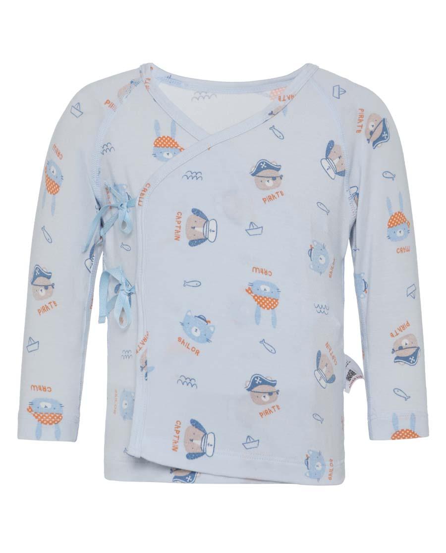 Aimer Baby睡衣|愛慕嬰兒小海盜男嬰系繩長袖睡衣AB241