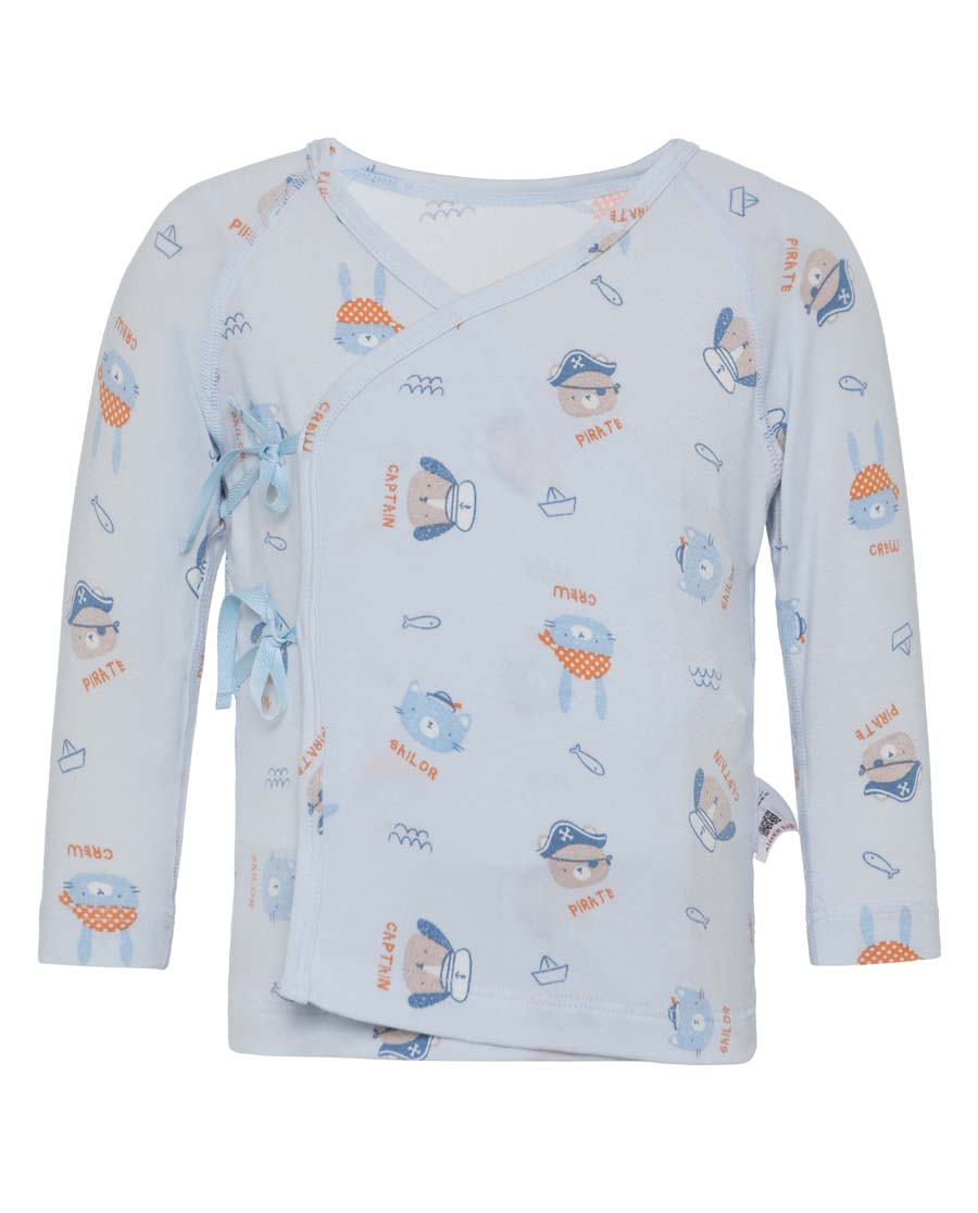 Aimer Baby睡衣|爱慕婴儿小海盗男婴系绳长袖睡衣AB2412531