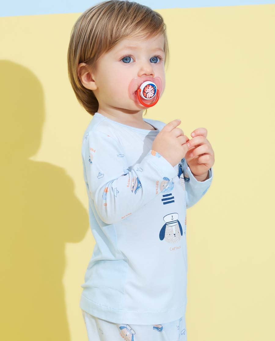 Aimer Baby睡衣 愛慕嬰幼小海盜男嬰套頭長袖睡衣AB241