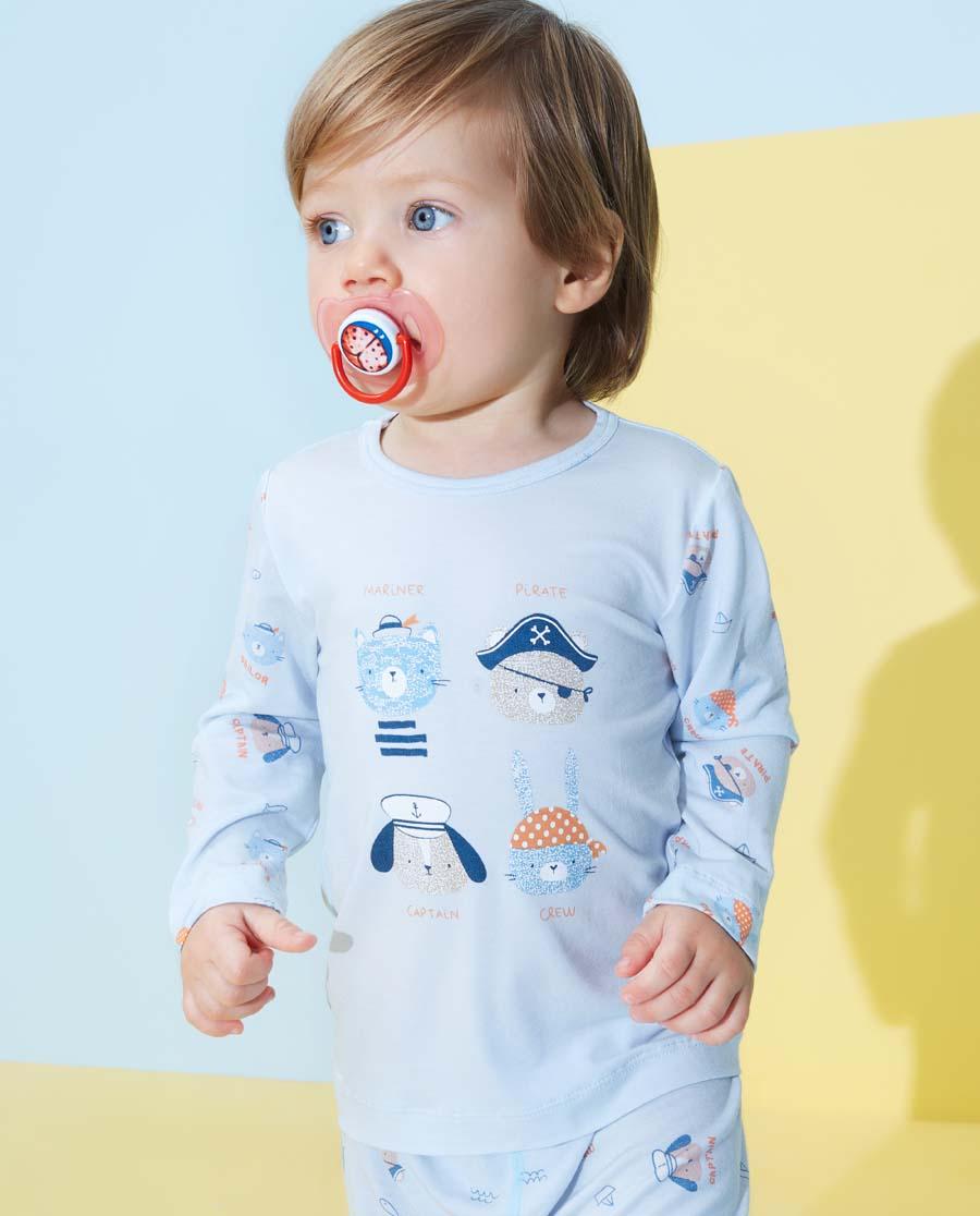 Aimer Baby睡衣|愛慕嬰幼小海盜男嬰套頭長袖睡衣AB241