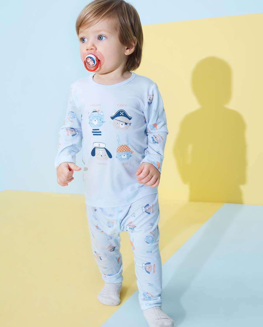 Aimer Baby睡衣|愛慕嬰幼小海盜男嬰大屁屁睡褲AB2422