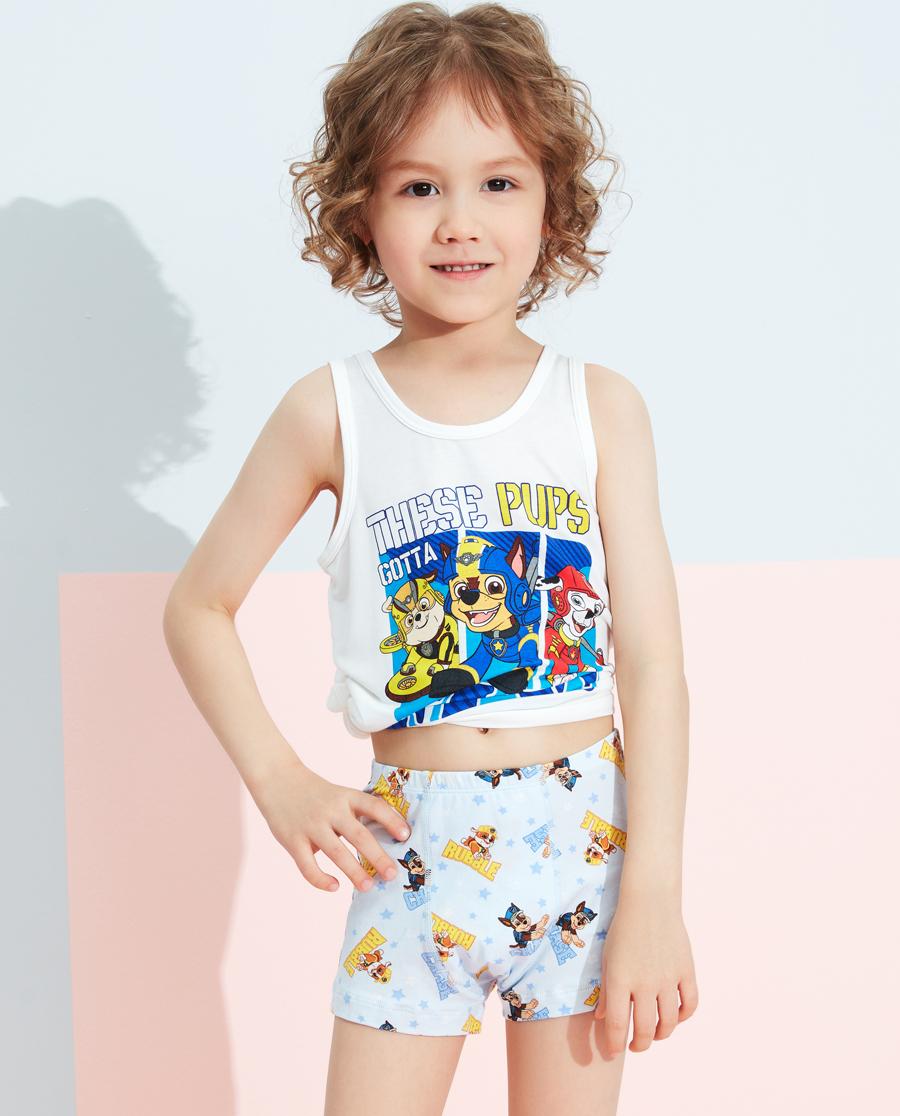 Aimer Kids内裤|爱慕儿童天使小裤棉氨纶汪汪队男童明星战队中腰平角裤AK2233461