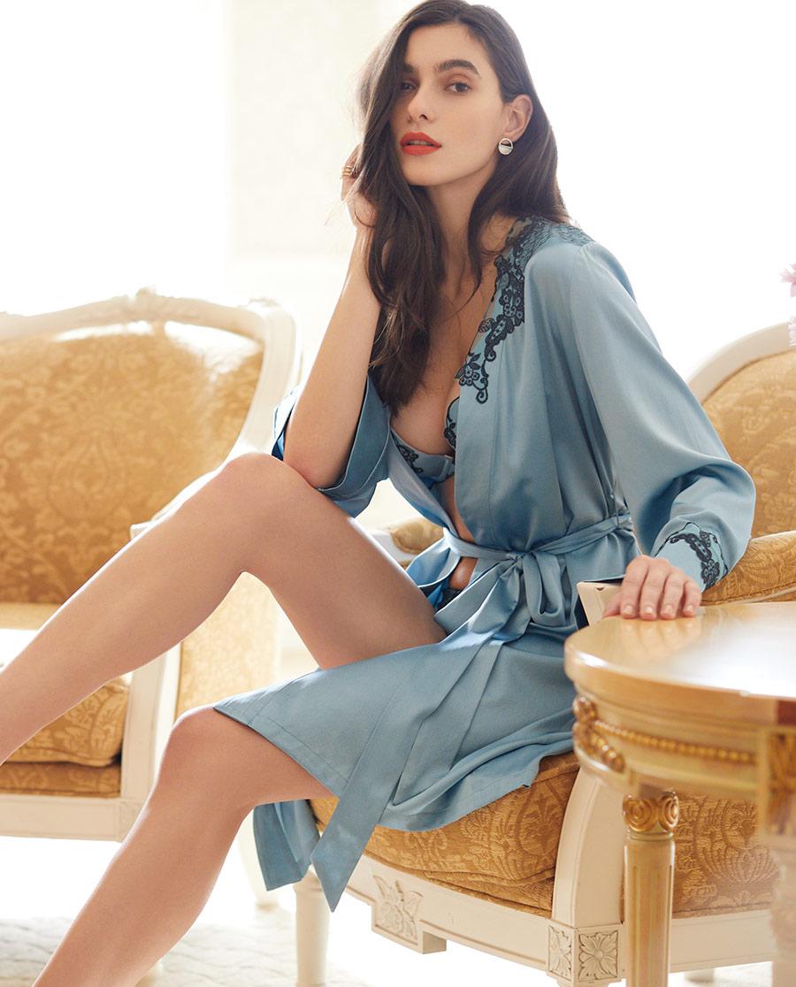 La Clover睡衣 LA CLOVER兰卡文蜜糖琥珀系列睡袍