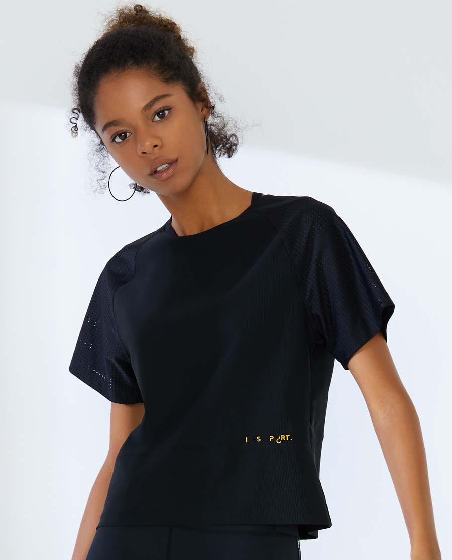 IMIS運動裝|愛美麗運動字母狂歡短袖露背T恤IM63A