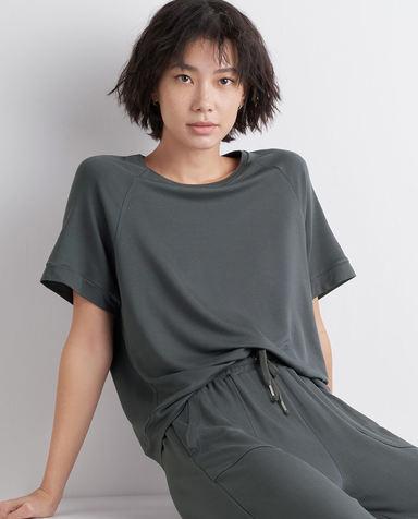 AIMER NYC睡衣|AIMER NYC爱慕KENMARE肯梅尔宽松短袖上衣AN450151